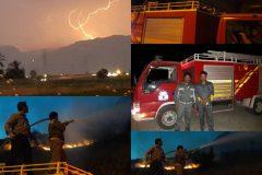 امدادرسانی سیمان بهبهان در آتش سوزی «تشان»