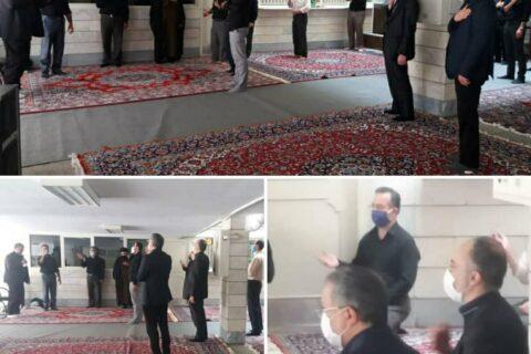 برگزاری مراسم عزاداری در سیمان فارس و خوزستان